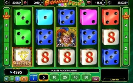 dice slots online gokken in België