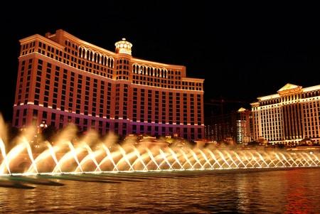 bellagio casino en hotel met fonteinen
