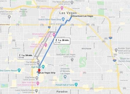 Las Vegas Downtown casino's Strip